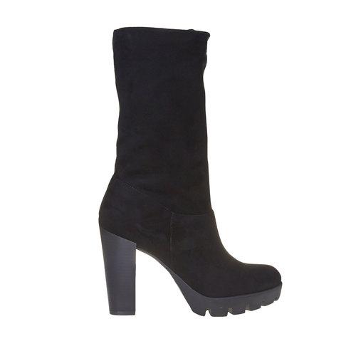 Stivali da donna con suola strutturata bata, nero, 799-6632 - 15