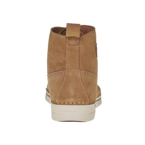 Scarpe da donna in pelle alla caviglia weinbrenner, beige, 594-8323 - 17