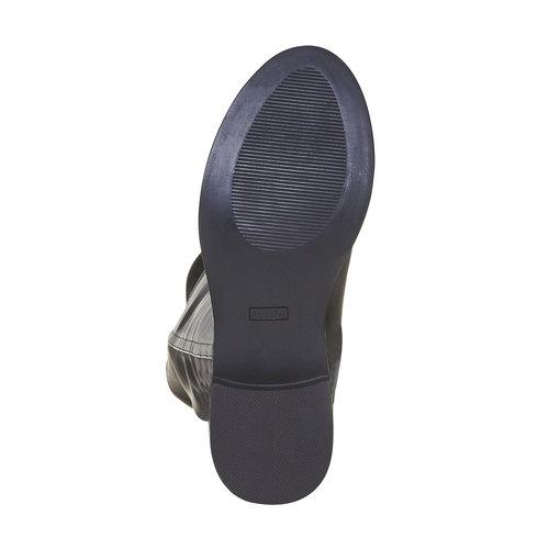 Stivali da donna sopra il ginocchio bata, nero, 591-6513 - 26