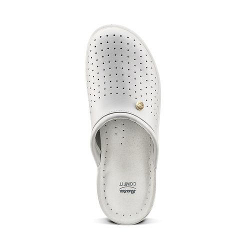 Pantofole da uomo bata-comfit, bianco, 874-1803 - 15