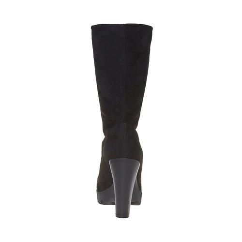 Stivali da donna con suola strutturata bata, nero, 799-6632 - 17
