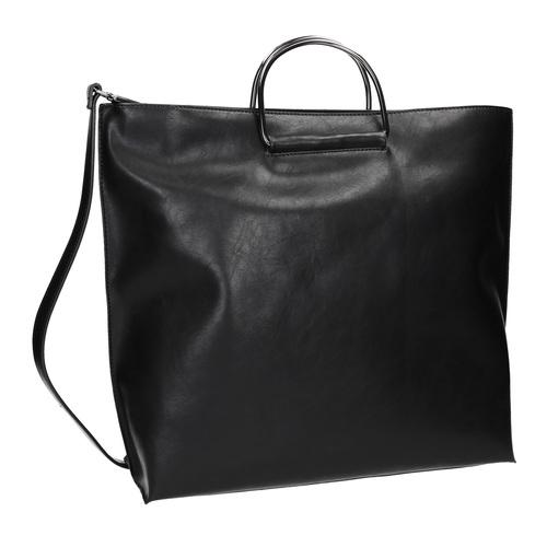 Borsetta da donna con manici in metallo bata, nero, 961-6789 - 13