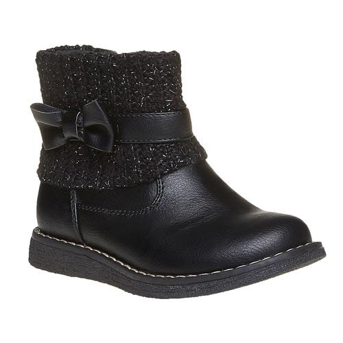 Scarpe da bambino con tessuto a maglia mini-b, nero, 291-6154 - 13