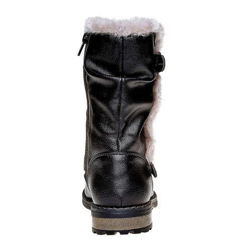 Stivali invernali da bambina mini-b, nero, 391-6245 - 17