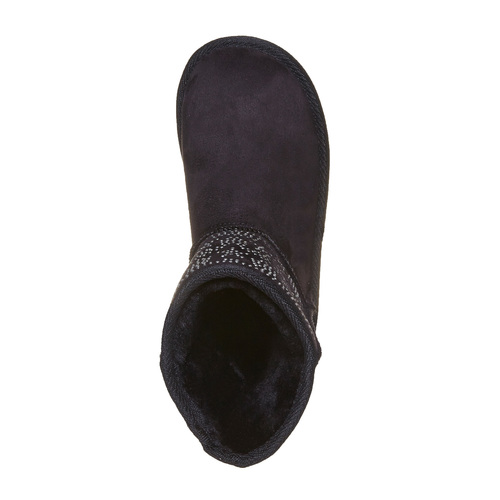 Stivali Valenki da bambino con applicazioni in metallo mini-b, nero, 399-6301 - 19