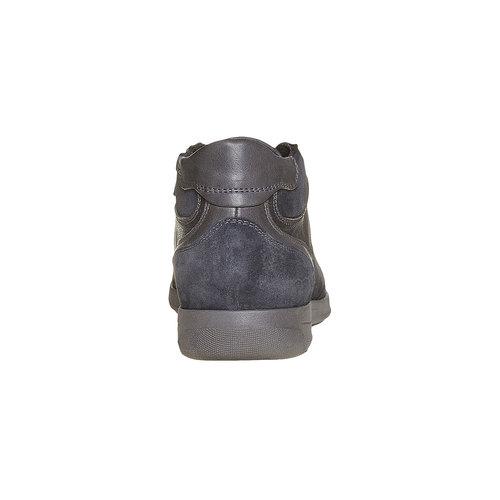 Sneakers da uomo in pelle bata, nero, 894-6697 - 17