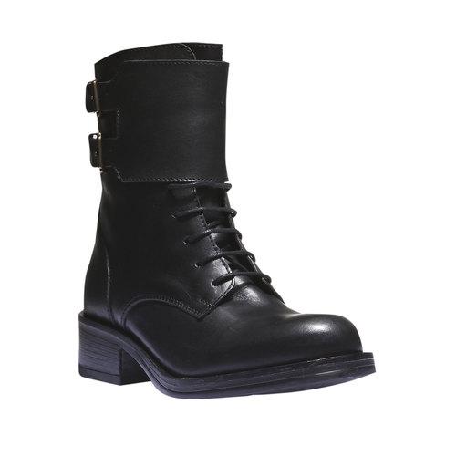 Sneakers alte con lacci bata, nero, 594-6198 - 13