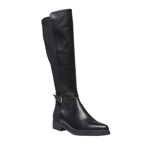 Stivali di pelle bata, nero, 594-6179 - 13