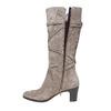 Stivali in pelle da donna con fibbie flexible, grigio, 693-2358 - 19