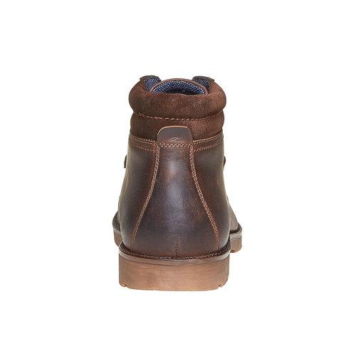 Scarpe da uomo in pelle bata, marrone, 894-4281 - 17
