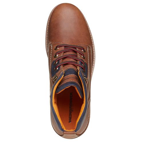Scarpe da uomo in pelle weinbrenner, marrone, 894-3403 - 19