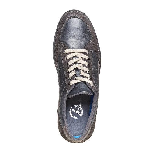 Sneakers da uomo in pelle bata, nero, 844-6690 - 19