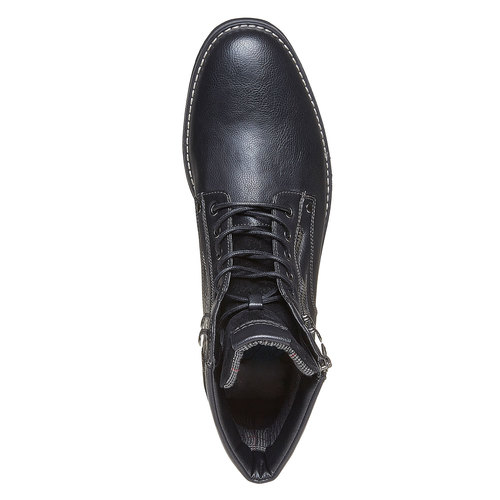 Scarpe da uomo alla caviglia, nero, 891-6568 - 19