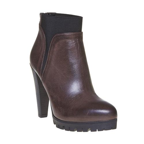 Stivaletti in pelle alla caviglia bata, grigio, 794-2596 - 13