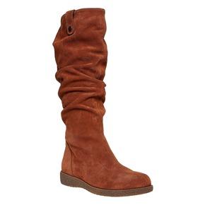 Stivali in pelle da donna bata, marrone, 593-3319 - 13
