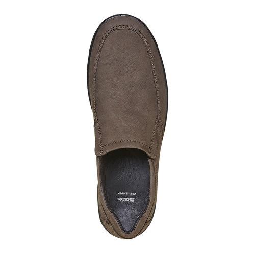 Scarpe basse di pelle da uomo bata, grigio, 836-2127 - 19