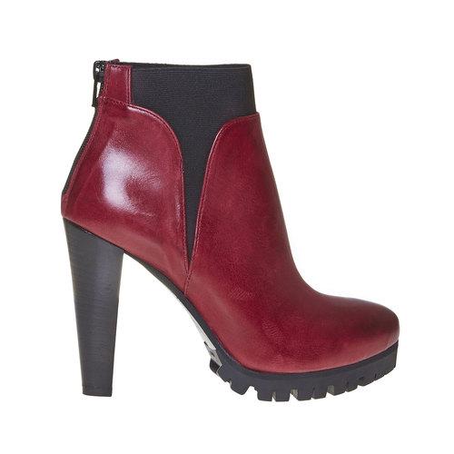 Stivaletti da donna alla caviglia bata, rosso, 794-5596 - 15