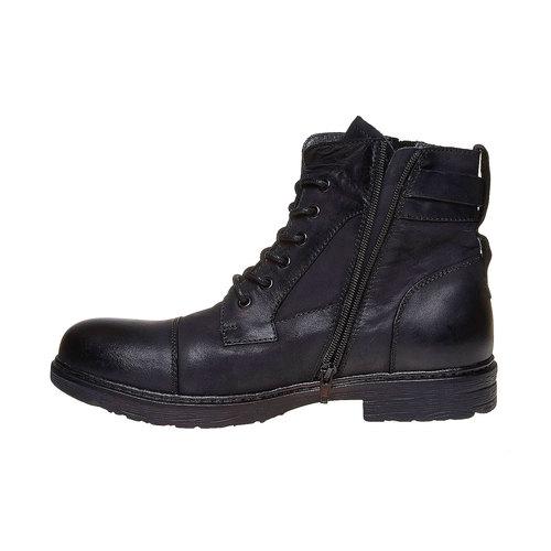 Scarpe da uomo in pelle alla caviglia, nero, 896-6569 - 19