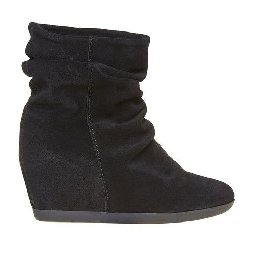 Scarpe da donna in pelle alla caviglia bata, nero, 793-6618 - 15