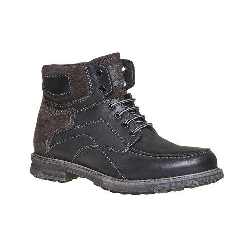 Scarpe di pelle alla caviglia da uomo bata, nero, 896-6687 - 13