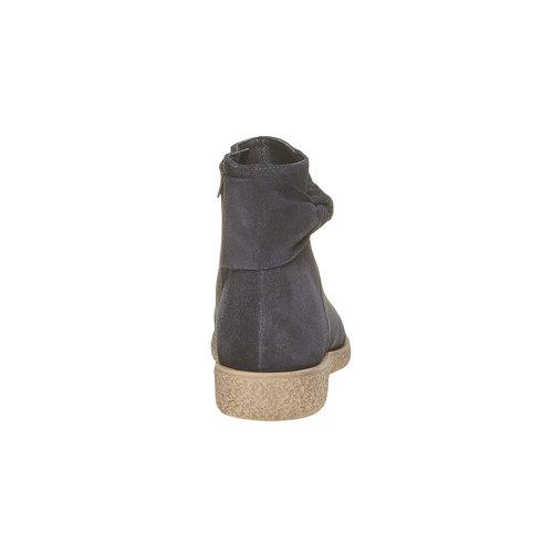 Stivali da donna in pelle bata, nero, 593-6115 - 17