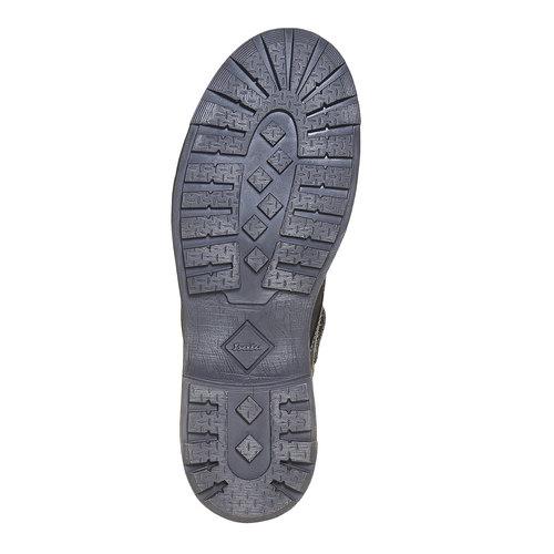 Scarpe di pelle alla caviglia da uomo bata, nero, 896-6687 - 26