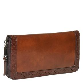 Portafoglio da donna con perforazioni bata, marrone, 941-3142 - 13