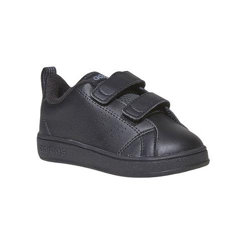 Sneakers nere da bambino con chiusure a velcro adidas, nero, 101-6233 - 13
