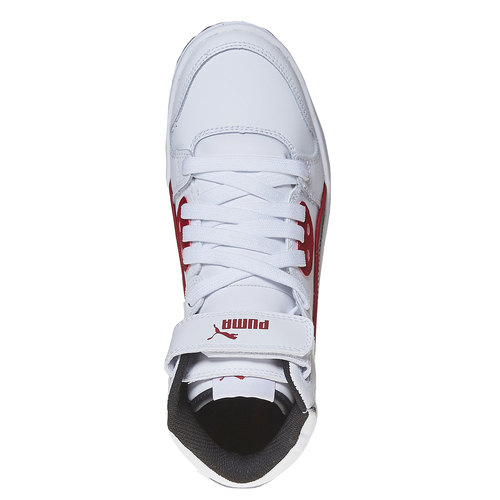 Sneakers da bambino alla caviglia puma, bianco, 401-1320 - 19