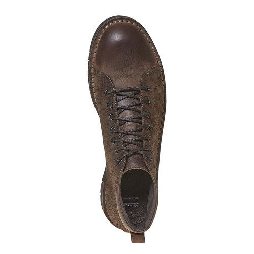 Scarpe da uomo alla caviglia bata, marrone, 894-4519 - 19