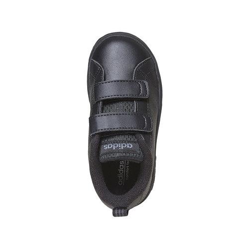 Sneakers nere da bambino con chiusure a velcro adidas, nero, 101-6233 - 19