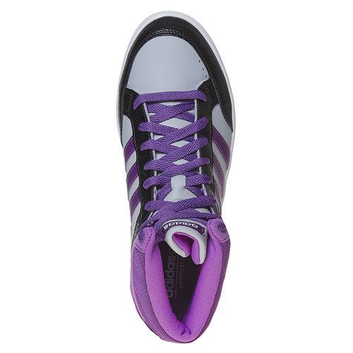 Sneakers da bambina alla caviglia adidas, grigio, 401-2331 - 19