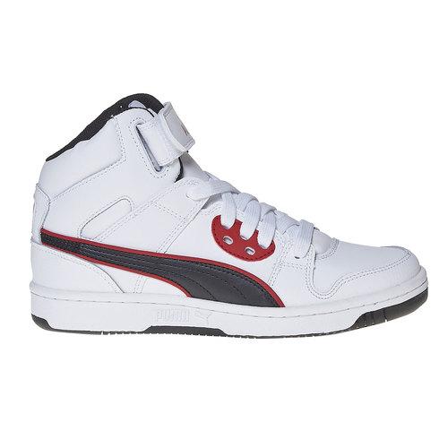 Sneakers da bambino alla caviglia puma, bianco, 401-1320 - 15