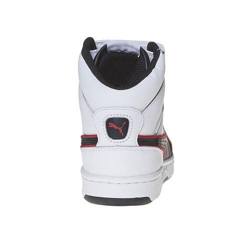 Sneakers da bambino alla caviglia puma, bianco, 401-1320 - 17