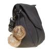 Borsetta da donna decorata con pon-pon bata, nero, 961-6244 - 17