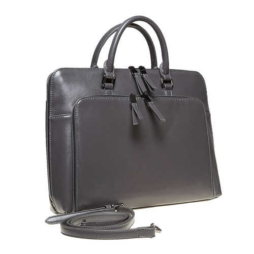 Borsetta elegante verniciata bata, grigio, 961-2882 - 13
