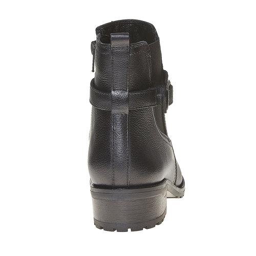 Stivaletti in pelle alla caviglia sundrops, nero, 594-6558 - 17
