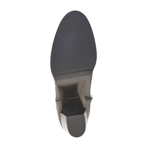 Stivaletti di pelle con tacco alto bata, nero, 794-6597 - 26