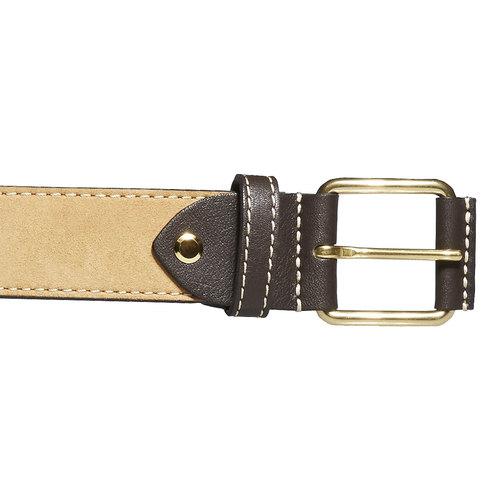 Cintura da uomo in pelle bata, giallo, 954-8183 - 26