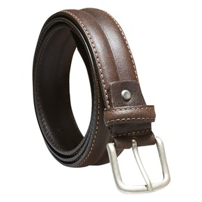 Cintura da uomo in pelle bata, marrone, 954-4128 - 13