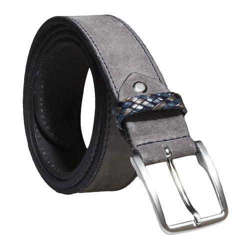 Cintura in pelle da uomo bata, grigio, 953-2102 - 13