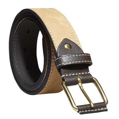 Cintura da uomo in pelle bata, giallo, 954-8183 - 13