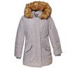 Parka donna con cappuccio e eco-fur bata, grigio, 979-2648 - 13