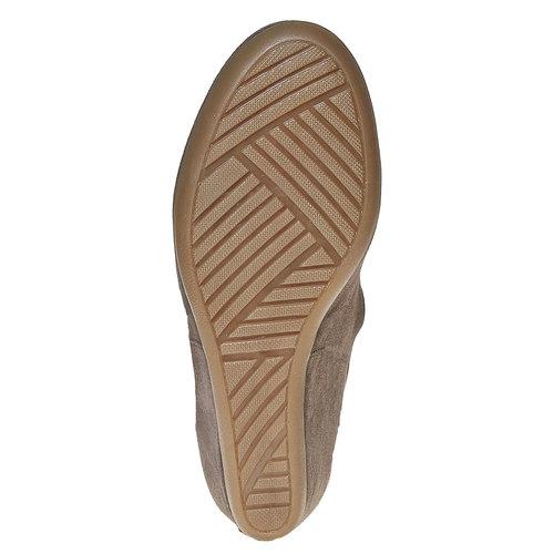 Stivali di pelle con tacco a zeppa bata, grigio, 793-2618 - 26