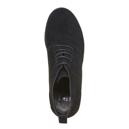 Scarpe da donna in pelle alla caviglia bata, nero, 793-6594 - 19
