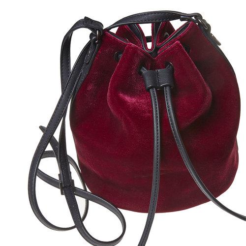 Borsetta in velluto in stile Bucket Bag bata, rosso, 969-5319 - 17
