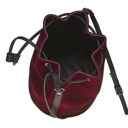 Borsetta in velluto in stile Bucket Bag bata, rosso, 969-5319 - 15