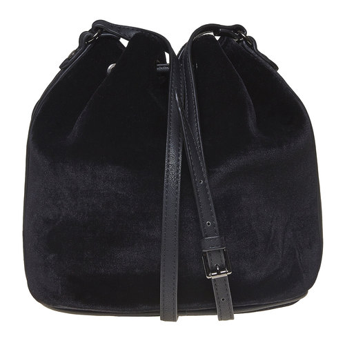Borsetta in velluto in stile Bucket Bag bata, nero, 969-6319 - 26