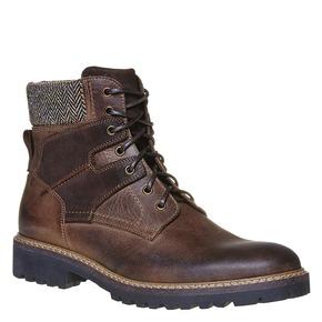 Scarpe da uomo alla caviglia bata, grigio, 894-2634 - 13