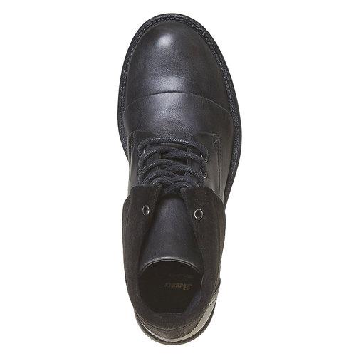 Scarpe da donna in pelle sopra la caviglia bata, nero, 594-6450 - 19